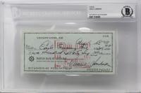 Vince Lombardi Signed 1961 Bank Check (BAS Encapsulated)