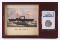 1859-O Seated Liberty Half Dollar from the SS Republic Shipwreck with Display Case (NGC Authentic) at PristineAuction.com