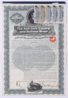 1897 New York Central & Hudson River Railroad Company $1,000 One-Thousand Dollar Mortgage Bond with (5) $17.50 Seventeen Dollars and Fifty Cents Coupons
