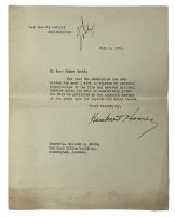 Herbert Hoover Signed White House Typed Letter (Beckett LOA)