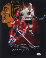 "Bobby Hull Signed Chicago Blackhawks 11x14 Photo Inscribed ""HOF 1983"" (PSA COA) at PristineAuction.com"