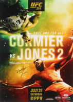 "Jon ""Bones"" Jones Signed UFC 214 Fight Poster vs. Cormier 16x22 Photo (PSA COA) at PristineAuction.com"