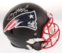 "Julian Edelman Signed New England Patriots Matte Black Full-Size Speed Helmet Inscribed ""SB LIII MVP"" (Beckett COA)"