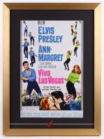 """Viva Las Vegas"" 17x23 Custom Framed Movie Poster Display with Elvis Pin"