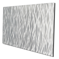 """""""Silver Vapor 48"""" 19x48x1 Modern Metal Art on Metal by Helena Martin at PristineAuction.com"""