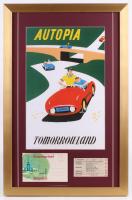 "Disneyland ""Tommorowland"" 17x26 Custom Framed Poster Display with Ticket"