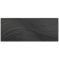 """Black Currents 60"" 24x60x1 Modern Metal Art on Metal by Helena Martin at PristineAuction.com"
