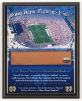 Notre Dame Fighting Irish 8x10 Plaque with Game Used Bench Slab (Steiner COA) at PristineAuction.com