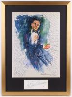 "LeRoy Neiman Signed ""Frank Sinatra"" Vintage Print 21x28.5 Custom Framed Cut Display (PSA COA) at PristineAuction.com"