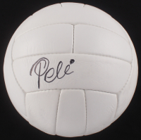 Pele Signed Throwback Soccer Ball (PSA COA)