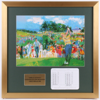 """LeRoy Neiman """"April at Augusta"""" 21.5x21.5 Custom Framed Print Display with Official Augusta National Scorecard"""