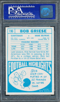 1968 Topps #196 Bob Griese RC (PSA 8) at PristineAuction.com