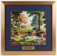 "Thomas Kinkade Walt Disney's ""Winnie-The-Pooh"" 17.5x18 Custom Framed Print Display"