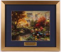 "Thomas Kinkade Walt Disney's ""Mickey & Minnie"" 15.5x18 Custom Framed Print Display"