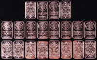 "Lot of (20) 1 AVDP Ounce .999 Fine Copper ""Buffalo Nickel"" Bullion Bars at PristineAuction.com"