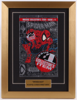 "1990 ""Spider-Man"" Issue #1 SILVER 13x17 Custom Framed Marvel Comic Book Display"