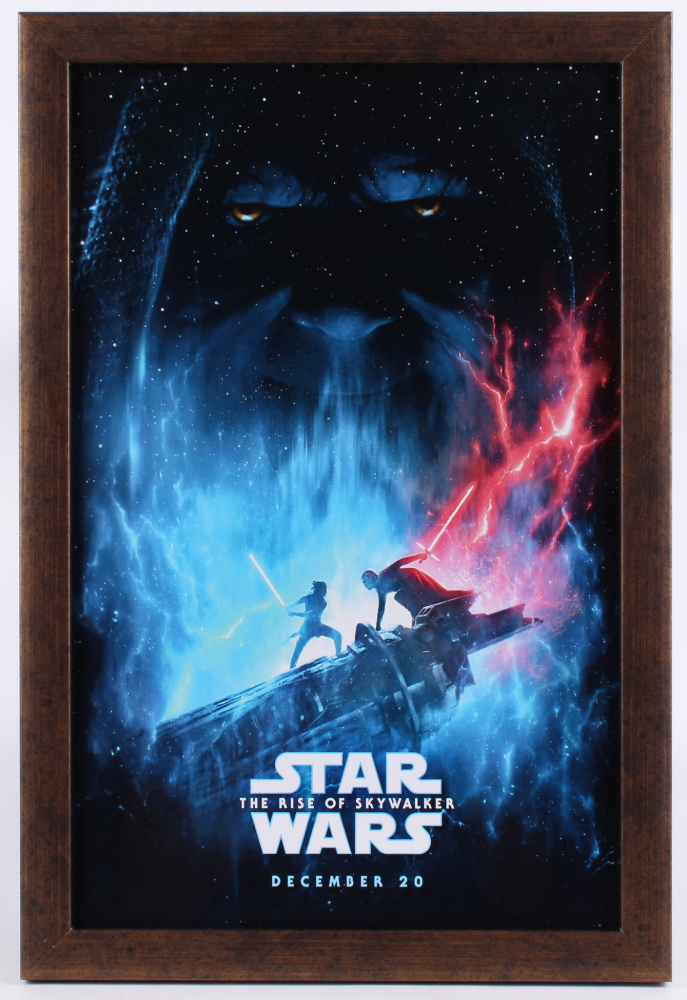 Star Wars The Rise Of Skywalker 12 5x18 5 Custom Framed Movie Poster Display Pristine Auction