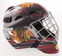 """Ed Belfour Signed Chicago Blackhawks Full-Size Goalie Mask Inscribed """"HOF 2011"""" (Schwartz COA)"""