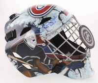 "Rogie Vachon Signed Montreal Canadiens Full-Size Hockey Goalie Mask Inscribed ""H.O.F. 16"" (Schwartz COA)"