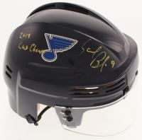 """Sammy Blais Signed St. Louis Blues Mini Helmet Inscribed """"2019 Cup Champs"""" (Blais COA)"""