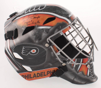 "Bernie Parent Signed Philadelphia Flyers Full-Size Goalie Mask Inscribed ""74-75 SC Champs, Vezina + Conn Smythe"" (Schwartz COA)"