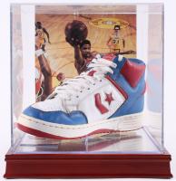 "Julius ""Dr. J"" Erving Signed Vintage Converse Basketball Shoe with High Quality Display Case (PSA COA) at PristineAuction.com"