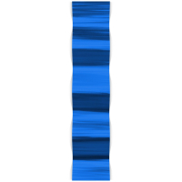 """""""Blue Lines Wave"""" 9.5x44x3 Modern Metal Art on Metal by Helena Martin at PristineAuction.com"""