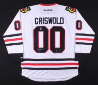 """Chevy Chase Signed """"National Lampoon's Christmas Vacation"""" Chicago Blackhawks Jersey (Schwartz COA & Chase Hologram)"""