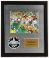 "Joe Montana San Francisco 49ers 16x19 Custom Framed LeRoy Neiman ""Super Bowl 16"" Print Display with Super Bowl Patch"