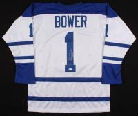 """Johnny Bower Signed Jersey Inscribed """"China Wall"""" & """"HOF 76"""" (JSA COA)"""