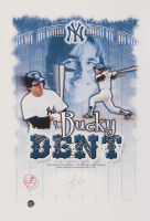Bucky Dent Signed LE New York Yankees 13x19 Lithograph (Legends COA)