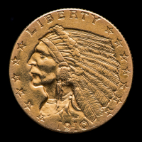 1910 $2.50 Indian Head Quarter Eagle Gold Coin