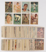1957 Topps Baseball Partial Set of (324/407) Cards with #154 Red Schoendienst, #7 Luis Aparicio, #15 Robin Roberts, #120 Bob Lemon, #215 Enos Slaughter