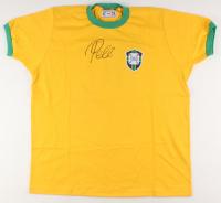 Pele Signed Team Brazil Jersey (PSA COA) at PristineAuction.com