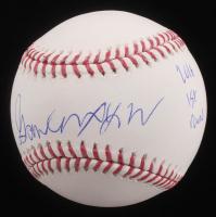"""Gavin Lux Signed OML Baseball Inscribed """"2016 1st Round"""" (PSA Hologram)"""