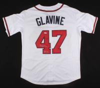 "Tom Glavine Signed Atlanta Braves 1995 World Series Jersey Inscribed ""HOF 14"" (PSA COA)"