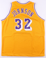 "Magic Johnson Signed Jersey Inscribed ""HOF 02"" (PSA COA) at PristineAuction.com"