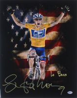 "Lance Armstrong Signed 16x20 Photo Inscribed ""Le Boss"" (Beckett COA) at PristineAuction.com"