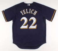 "Christian Yelich Signed Milwaukee Brewers Jersey Inscribed ""Go Brew Crew"" (Beckett COA)"