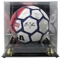 Hope Solo Signed Team USA Logo Soccer Ball with Display Case (JSA COA) at PristineAuction.com