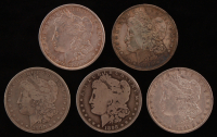 Lot of (5) 1889-1900 Morgan Silver Dollars at PristineAuction.com