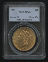 1904 $20 Liberty Double Eagle Gold Coin (PCGS MS 63)