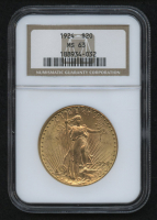 1924 $20 Saint-Gaudens Double Eagle Gold Coin (NGC MS 63)