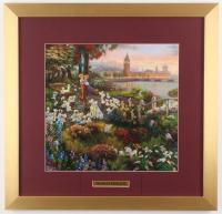 "Thomas Kinkade Walt Disney's ""101 Dalmatians"" 17.5x18 Custom Framed Print Display"
