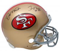 Joe Montana & Jerry Rice Signed San Francisco 49ers Full-Size Authentic On-Field Helmet (JSA COA) at PristineAuction.com