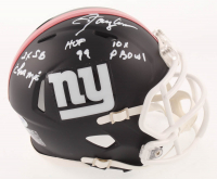 "Lawrence Taylor Signed New York Giants Matte Black Speed Mini Helmet Inscribed ""2x SB Champs,"" ""HOF 99"" & ""10x P-Bowl"" (PSA COA) at PristineAuction.com"