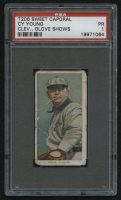 1910 Sweet Caporal Cleveland Glove Shows T206 #25 Cy Young (PSA 1) at PristineAuction.com