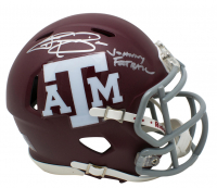 "Johnny Manziel Signed Texas A&M Aggies Speed Mini Helmet Inscribed ""Johnny Football"" (JSA COA) at PristineAuction.com"