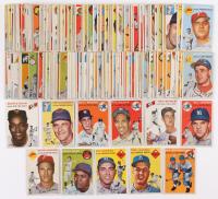 Partial Set of (221 / 250) 1954 Topps Baseball Cards with #3 Monte Irvin, #7 Ted Kluszewski, #13 Billy Martin, #17 Phil Rizzuto, #36 Hoyt Wilhelm, #45 Richie Ashburn