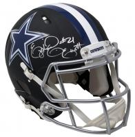 Ezekiel Elliott Signed Dallas Cowboys Matte Black Full-Size Authentic On-Field Speed Helmet (Beckett COA) at PristineAuction.com